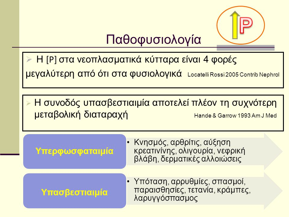 P Παθοφυσιολογία Η [P] στα νεοπλασματικά κύτταρα είναι 4 φορές